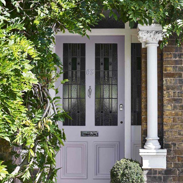 lavender quartz front door