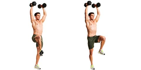 dumbbell march