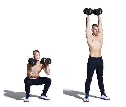 weights, exercise equipment, overhead press, kettlebell, shoulder, free weight bar, dumbbell, arm, standing, sports equipment,