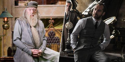 Dumbledore joven y viejo