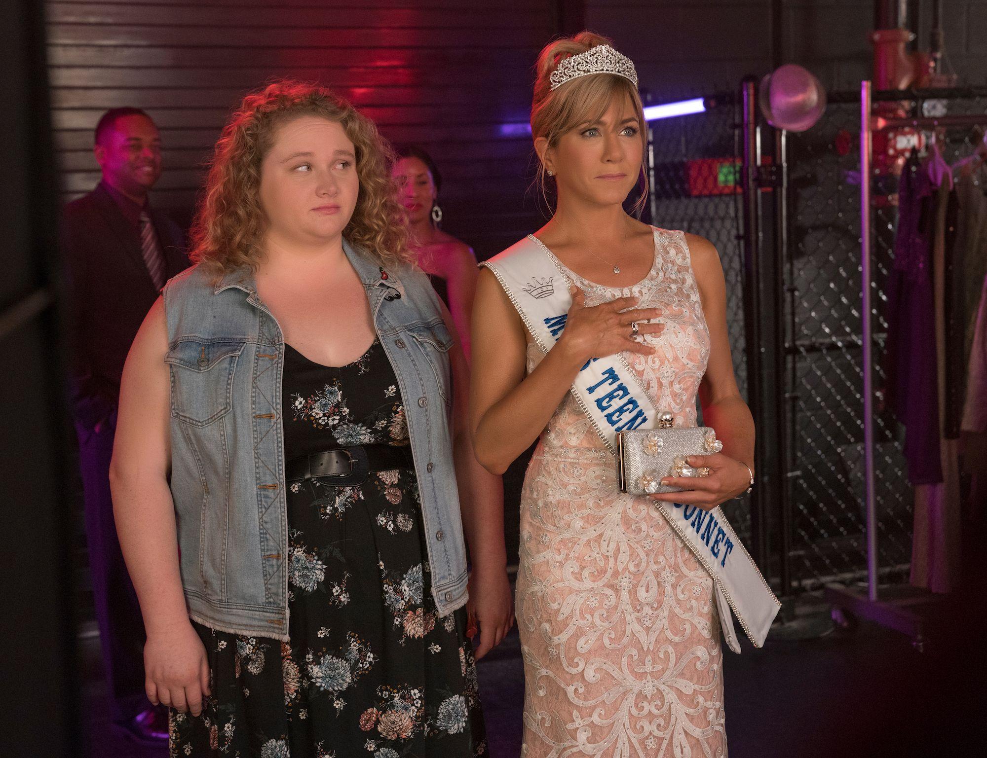 Danielle MacDonald and Jennifer Aniston inDumplin'