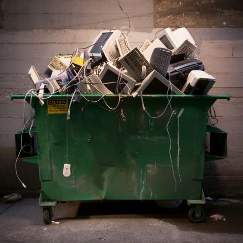 Dumpster Full of Computer Equipment