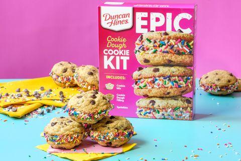 duncan hines epic cookie dough cookie baking kit