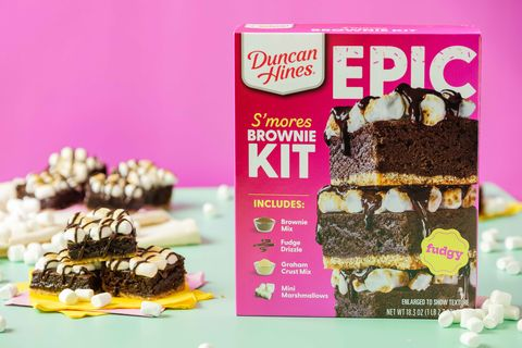 duncan hines epic s'mores brownie baking kit