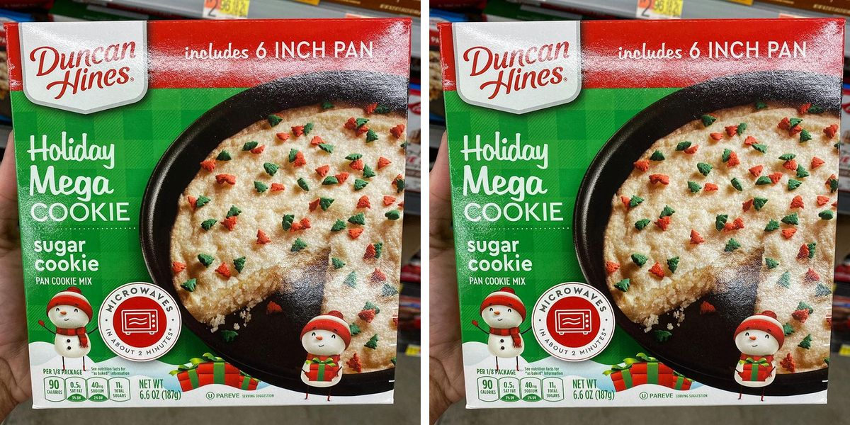 Duncan Hines Has a New Giant Holiday Cookie That Comes With Its Own Baking Pan