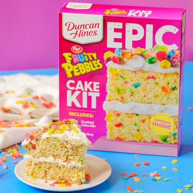 duncan hines post fruity pebbles epic cake baking kit