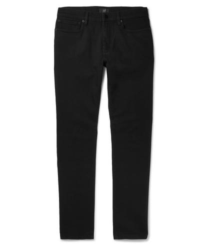 DUNHILL PANTALONES NEGROS SLIM FIT, slim fit, pantalones negros hombre