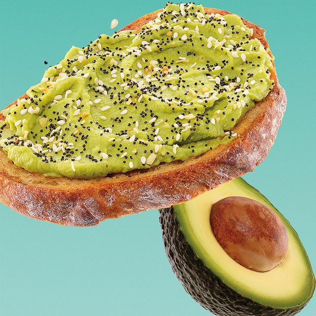 dunkin' avocado toast with everything bagel seasoning