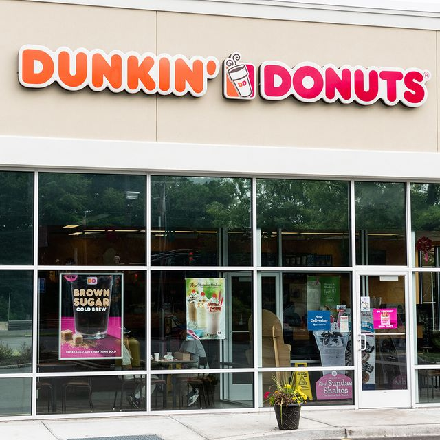 dunkin' donuts store signs