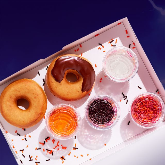 dunkin' halloween diy donut decorating kit