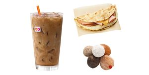 Dunkin Donuts healthy orders ice coffee wake up wrap munchkins