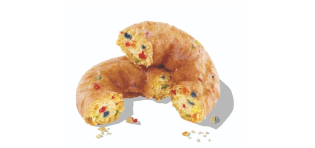 dunkin' launches new dunkfetti donut that combines confetti cake and classic glazed