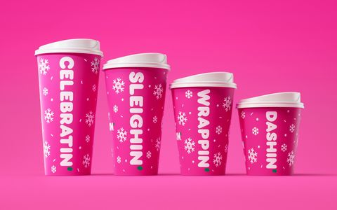 Cup, Pink, Cup, Tumbler, Material property, Drinkware, Font, Coffee cup, Plastic,