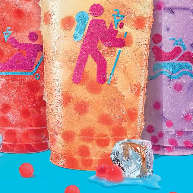 dunkin' strawberry popping bubbles drinks