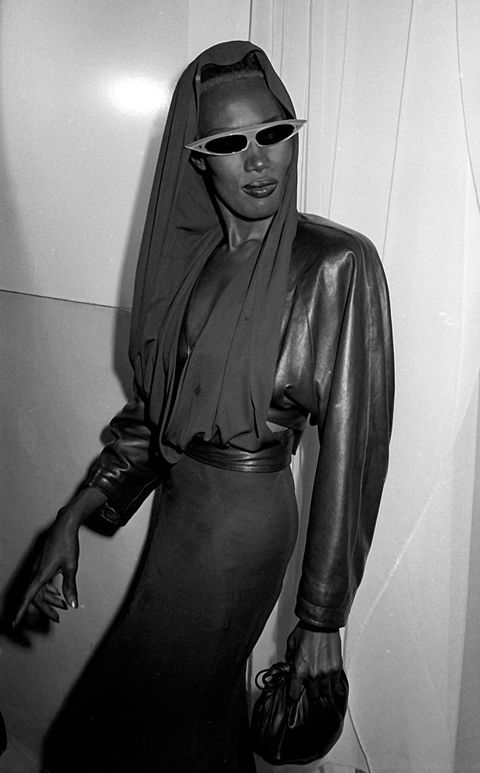 new york city   may 15  grace jones attends the premiere party for a view to kill on may 15, 1985 at the palladium in new york city photo by ron galellaron galella collection via getty images