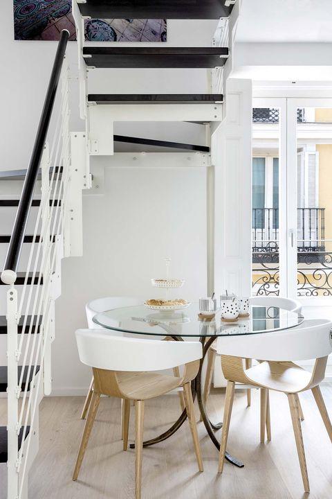 Un coqueto d plex de 50 metros cuadrados casas peque as - Duplex en madrid ...