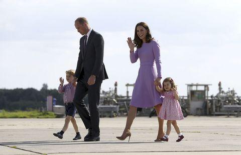 Duques de Cambridge e hijos