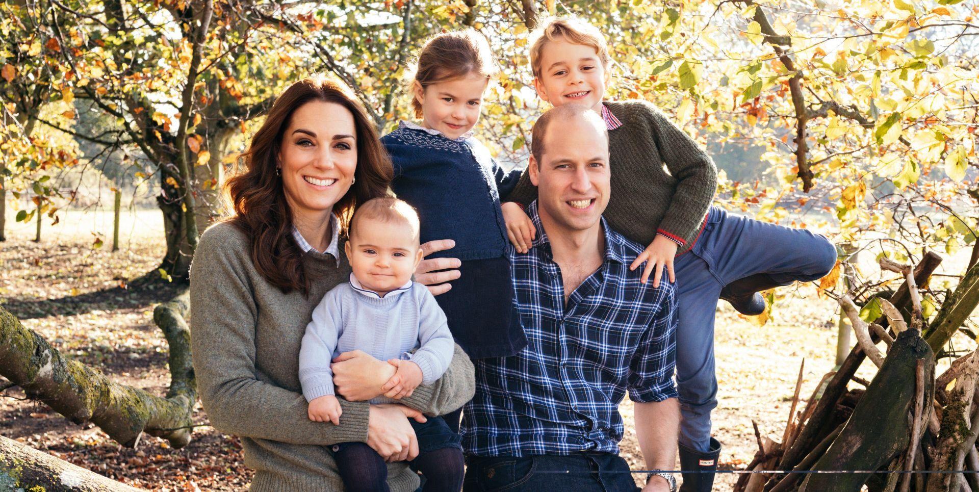 Principe Guillermo, Kate Middleton,George, Charlotte y Louis duques de Cambridge