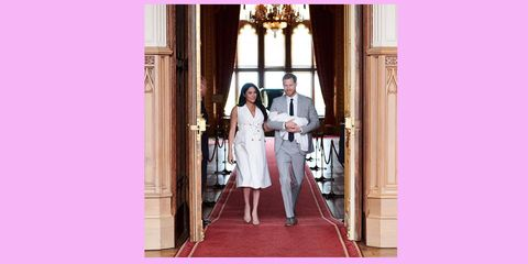 Photograph, Pink, Red, Dress, Wedding dress, Bride, Ceremony, Bridal clothing, Gown, Fashion,