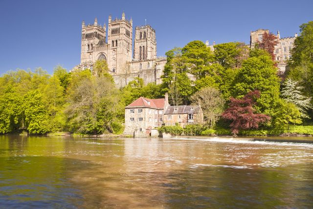durham cathedral in front of the river wear