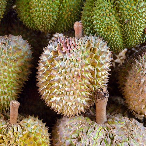 Durians are exotic fruits with foul-smelling