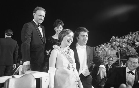 Dustin Hoffman and Gene Hackman at Academy Awards