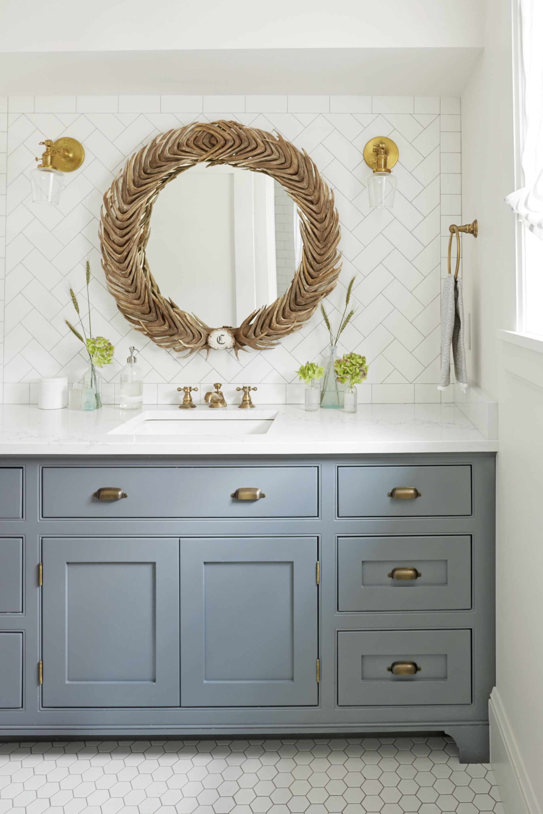 dusty blue bathroom paint color & 20 Best Bathroom Paint Colors - Popular Ideas for Bathroom Wall Colors