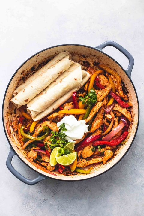 dutch oven chicken fajitas