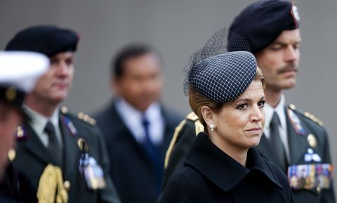 koningin maxima bij de nationale dodenherdenking in 2010