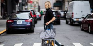 new york streetstyle suitcase reizen
