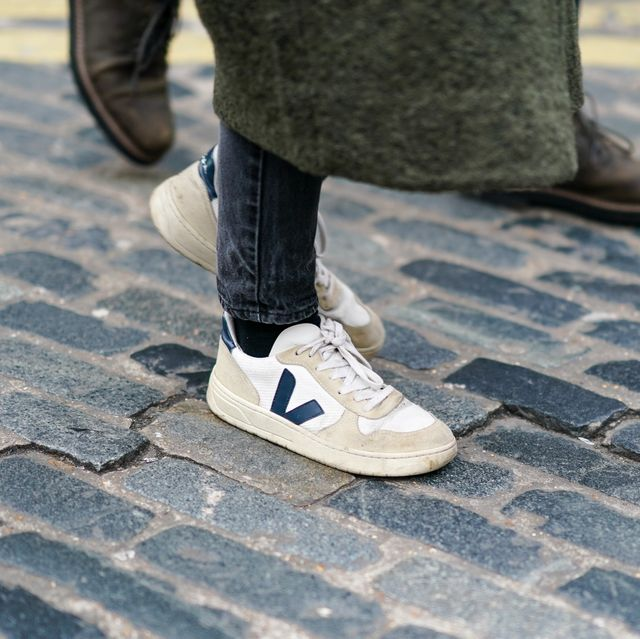 london, england   january 05 veja sneakers are seen, during london fashion week mens january 2020 on january 05, 2020 in london, england photo by edward berthelotgetty images