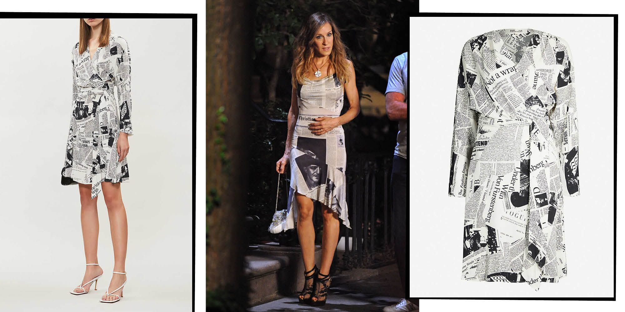 The Newspaper Print Dress Even Carrie Bradshaw Would Be Jealous Of