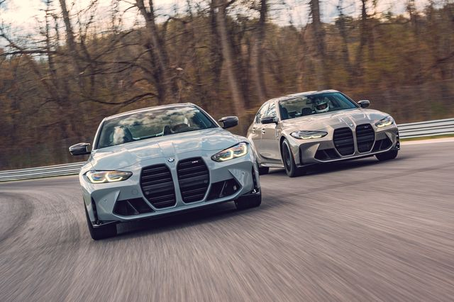 2021 bmw m3 and m4 at lime rock park