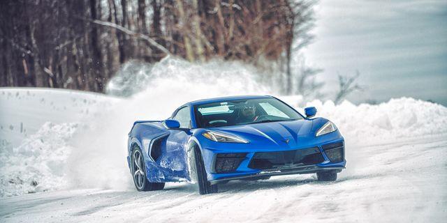 2021 chevy c8 corvette convertible snow winter daily