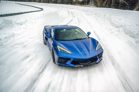 2021 chevy c8 corvette convertible snow winter daily