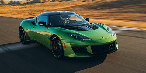 Land vehicle, Vehicle, Car, Supercar, Sports car, Performance car, Automotive design, Lotus evora, Sports car racing, Landscape,