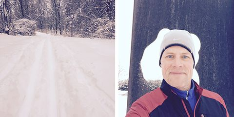 David Willey cross-country skiing