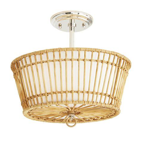 circular rattan pendant light