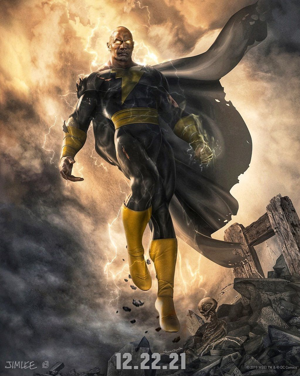 Dwayne Johnson confirms Black Adam release date with seriously cool concept art