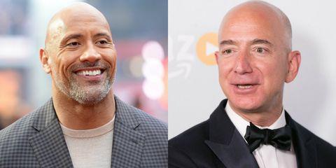 Dwayne Johnson and Jeff Bezos