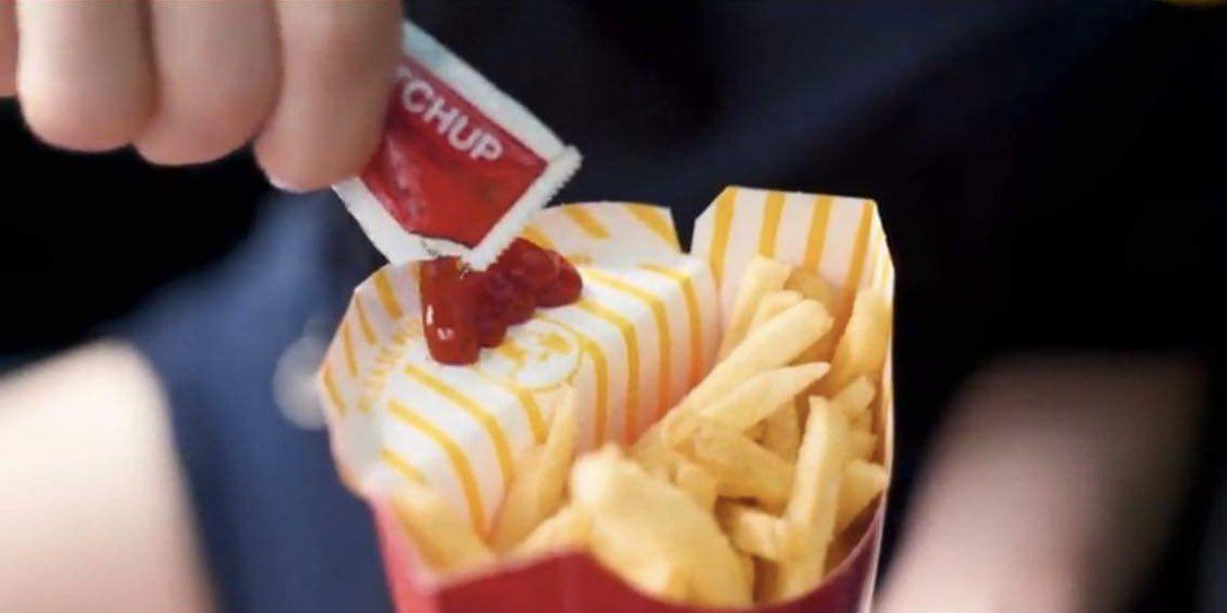 McDonald's fry box ketchup flaphack