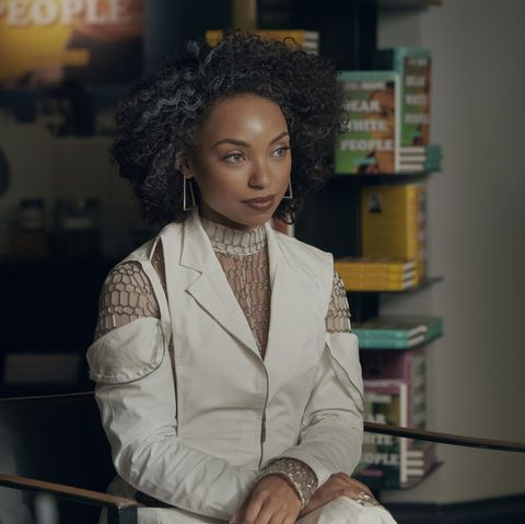 Dear white people l to r logan browning as samantha white as 401 in dear white people cr lara solankinetflix 2021