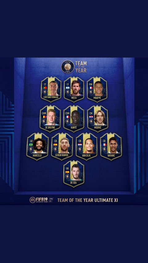 FIFA 19 Team of the Year: The entire TOTY Ultimate XI is now