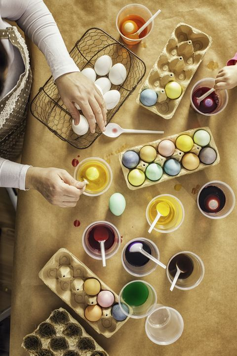 dyeing easter eggs easter activities