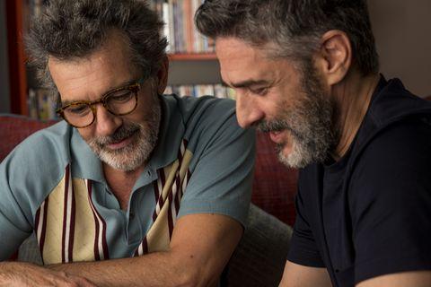 """Antonio Banderas y Leonardo Sbaraglia en """"Dolor y gloria"""""""