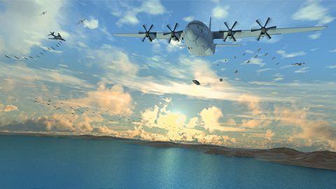Airplane, Sky, Aircraft, Air travel, Vehicle, Aviation, Aerospace engineering, Air force, Lockheed c-130 hercules, Military aircraft,