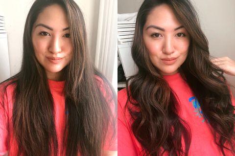 dyson corrale boucler les cheveux avant et après