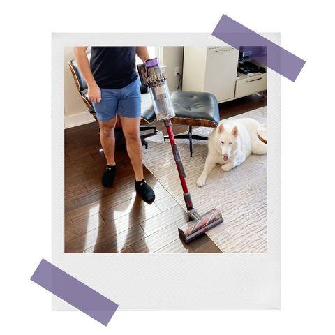 dyson stick vacuum under coffee table and brandon using stick vacuum on carpet