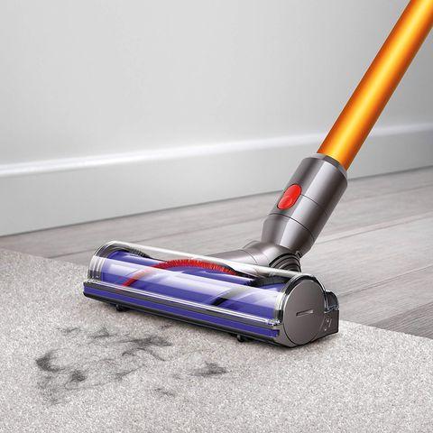 Vacuum cleaner, Floor, Carpet sweeper, Household cleaning supply, Flooring, Household supply, Paint roller, Mop,