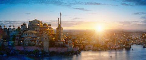 Sky, Landmark, Cityscape, City, Morning, Evening, Human settlement, Metropolitan area, Reflection, Horizon,